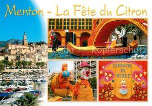 AK / Ansichtskarte Menton_Alpes_Maritimes La Fete du Citron Menton_Alpes_Maritimes