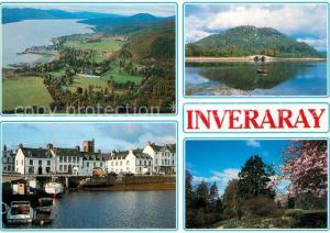 AK / Ansichtskarte Inveraray Loch Fyne Pier Duniquoich Hill Cairndow Gardens Inveraray