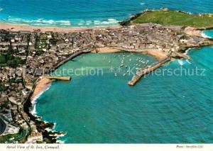 AK / Ansichtskarte St_Ives_Cornwall Aerial view St_Ives_Cornwall