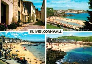 AK / Ansichtskarte St_Ives_Cornwall Gasse Panorama Strand St_Ives_Cornwall