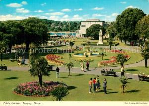 AK / Ansichtskarte Torquay_UK Public Gardens Torquay_UK