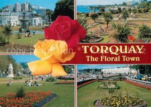 AK / Ansichtskarte Torquay_UK Floral Town Gardens Torquay_UK