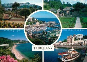 AK / Ansichtskarte Torquay_UK Park Kuestenpanorama Strand Hafen Torquay_UK