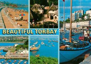 AK / Ansichtskarte Torquay_UK Paignton Cockington Brixham Beach Harbour Torquay_UK