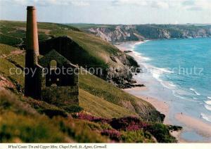 AK / Ansichtskarte St_Agnes_Cornwall Wheal Coates Tin and Copper Mine Chapel Porth Coast