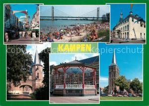 AK / Ansichtskarte Kampen_Niederlande Strasse Strand Kirche Pavillon  Kampen_Niederlande