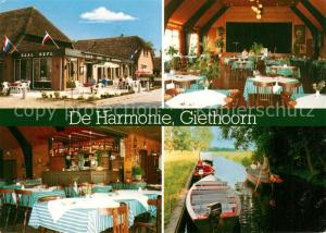 AK / Ansichtskarte Giethoorn Cafe Restaurant De Harmonie Giethoorn