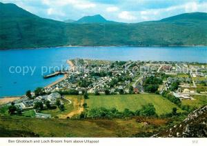 Ullapool Panorama Ben Ghoblach and Loch Broom Ullapool