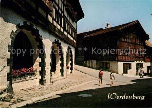 AK / Ansichtskarte Werdenberg bei Buchs Geburtshaus Prof. Carl Hilty Werdenberg