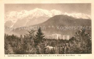 AK / Ansichtskarte Passy_Bonneville Sanatorium Sancellemoz et le Massif du Mont Blanc Alpes Passy_Bonneville