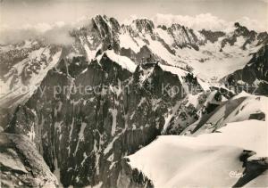 AK / Ansichtskarte Chamonix Mont Blanc Fliegeraufnahme Chamonix