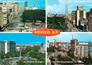 AK / Ansichtskarte Mexico_City Ave Juarez hacia el oeste Ave Juarez hacia el este La Reforma el Angel La Reforma Cuauhtemoc Mexico City