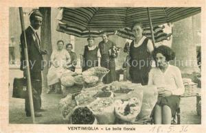 AK / Ansichtskarte Ventimiglia_Liguria La belle fioraie