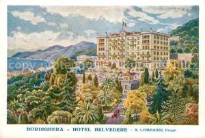 AK / Ansichtskarte Bordighera Hotel Belvedere Kuenstlerkarte Bordighera