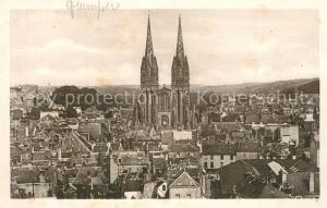 AK / Ansichtskarte Quimper Vue sur la Cathedrale prise de l'Eglise St Mathieu Quimper