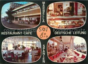 AK / Ansichtskarte Marbella_Andalucia Restaurant Cafe Sol de Oro Marbella_Andalucia