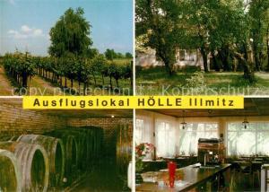 AK / Ansichtskarte Illmitz Ausflugslokal Hoelle Weinanbau Weinkeller Illmitz