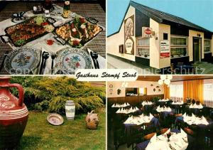 AK / Ansichtskarte Stoob Gasthaus Stampf Bueffet Garten Gaststube Stoob