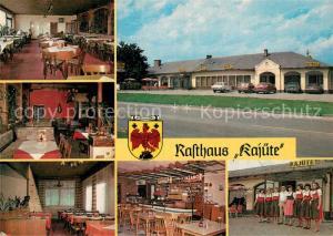 AK / Ansichtskarte Bruckneudorf Rasthaus Kajuete Gastraeume Personalfoto Bruckneudorf