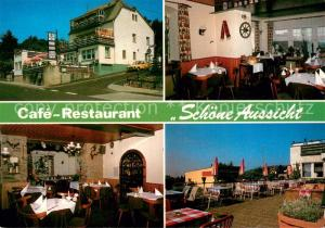 AK / Ansichtskarte Georgenborn Restaurant Schoene Aussicht Gastraeume Terrasse Georgenborn