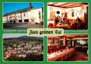 AK / Ansichtskarte Niederjosbach Gasthaus Zum gruenen Tal Gastraeume Panorama Niederjosbach