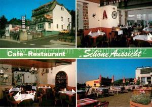 AK / Ansichtskarte Georgenborn Cafe Restaurant Schoene Aussicht Gastraeume Terrasse Georgenborn