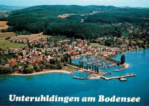 AK / Ansichtskarte Unteruhldingen am Bodensee Fliegeraufnahme Unteruhldingen