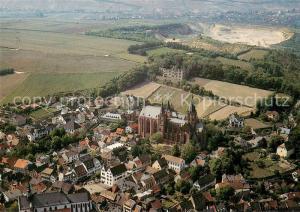 AK / Ansichtskarte Oppenheim Fliegeraufnahme mit Katharinenkirche und Ruine Landskrone Oppenheim