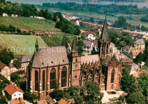 AK / Ansichtskarte Oppenheim Katharinenkirche Fliegeraufnahme Oppenheim
