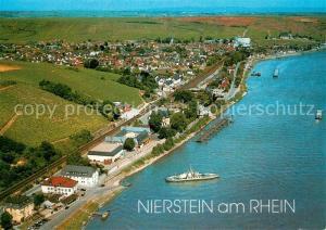 AK / Ansichtskarte Nierstein_Rhein Fliegeraufnahme Nierstein_Rhein
