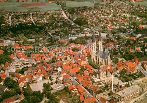 AK / Ansichtskarte Billerbeck_Westfalen Fliegeraufnahme mit Kirche Billerbeck_Westfalen