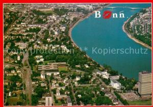 AK / Ansichtskarte Bonn_Rhein Fliegeraufnahme mit Regierungsviertel Bonn_Rhein