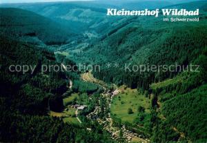 AK / Ansichtskarte Wildbad_Schwarzwald Fliegeraufnahme mit Camping Kleinenzhof Wildbad_Schwarzwald