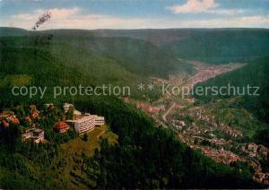 AK / Ansichtskarte Wildbad_Schwarzwald Fliegeraufnahme Wildbad_Schwarzwald