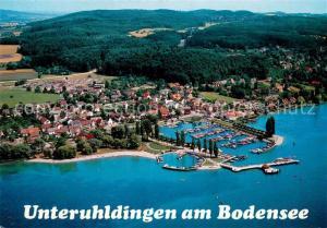 AK / Ansichtskarte Unteruhldingen_Bodensee Fliegeraufnahme Yachthafen