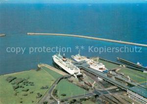 AK / Ansichtskarte Insel_Fehmarn Faehrhafen Puttgarden Fliegeraufnahme Insel Fehmarn