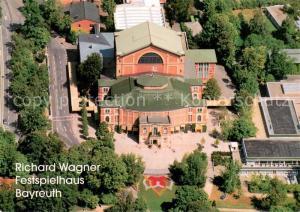 AK / Ansichtskarte Bayreuth Richard Wagner Festspielhaus Fliegeraufnahme Bayreuth