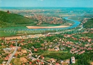 AK / Ansichtskarte Porta_Westfalica Fliegeraufnahme Porta_Westfalica