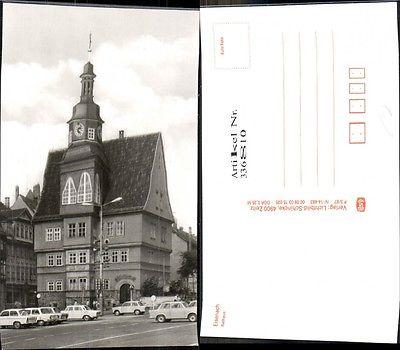 Foto Ak Eisenach Rathaus Parkende Auto PKW Trabant