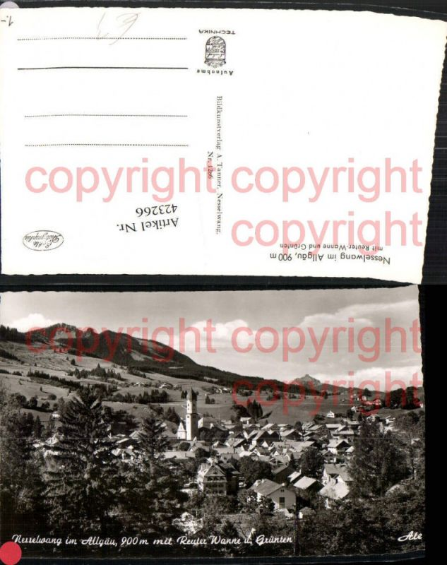 M M Nesselwang ak nesselwang totale mit reuter wanne und grünten nr 6419678 oldthing ansichtskarten