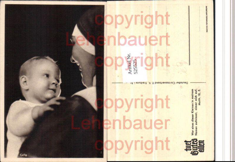 Nonne mit Kind Baby Calig pub Caritas Verband