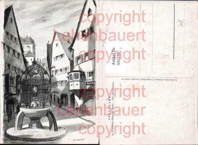 Künstler Stuttgart künstler ak o barrax stuttgart la fontaine hans im glück brunnen nr