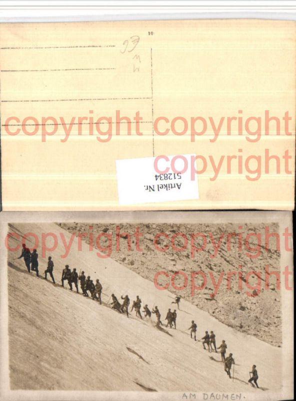 Foto AK WW1 Soldatenleben Am Daumen Gebirgsjäger Soldaten