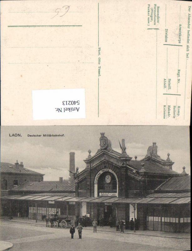 Laon Deutscher Militärbahnhof Militär WW1 Bahnhof