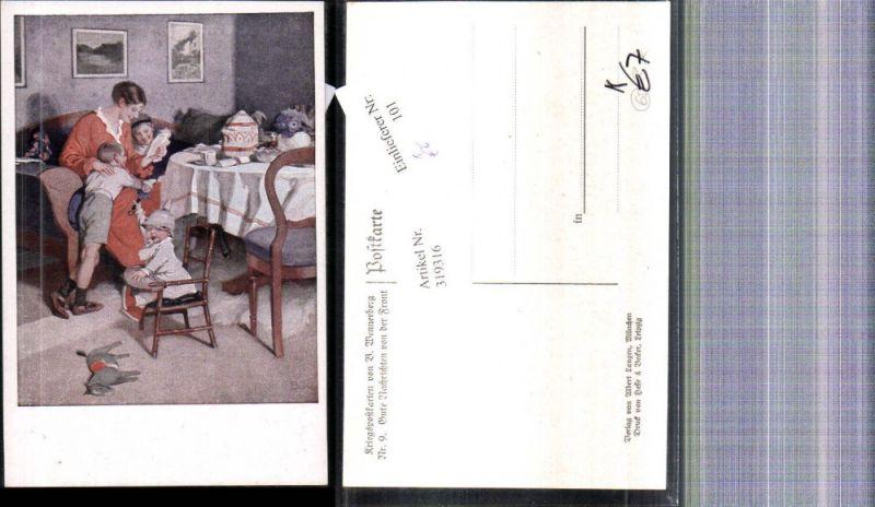 Künstler Ak Brynolf Wennerberg Kriegspostkarte 9 Gute Nachrichten v. d. F