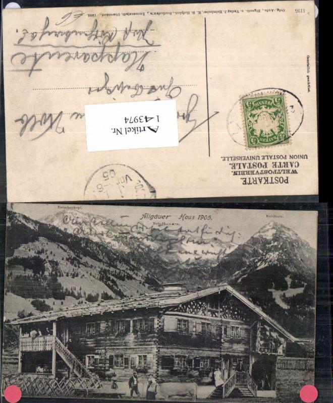 Allgäuer Haus Allgäu bei Oberstdorf 1915