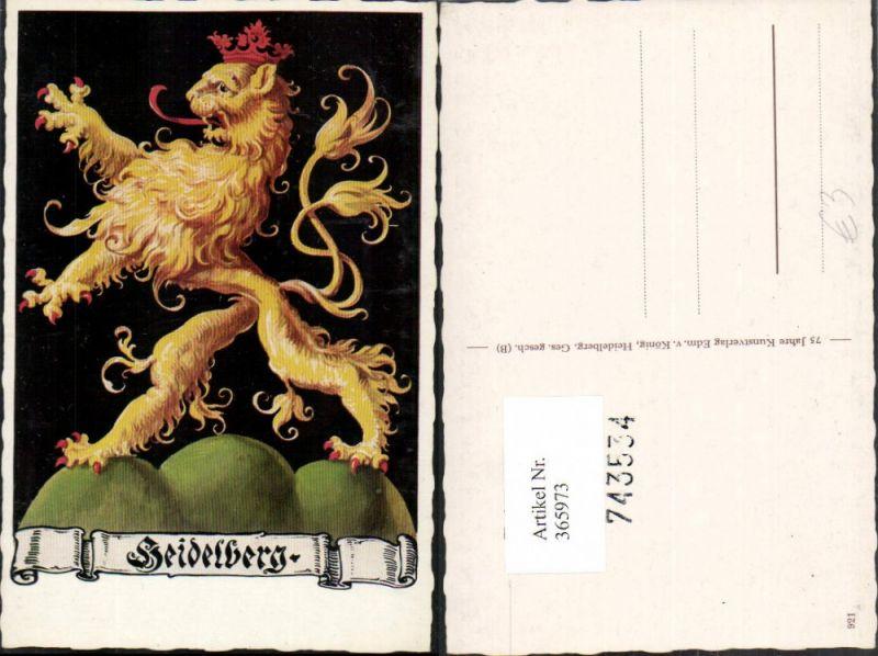 Künstler Heidelberg künstler ak heidelberg wappen löwe m krone zunge nr 365973