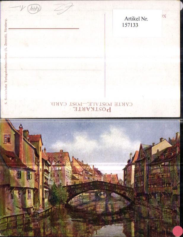 Nürnberg Fleischbrücke Künstler Ak