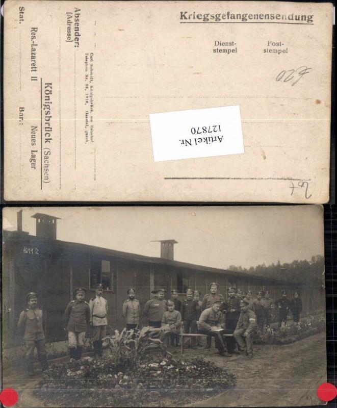 FotoAK Königsbrück Sachsen Lager Soldaten Lazarett Neues Lager POW Kriegs