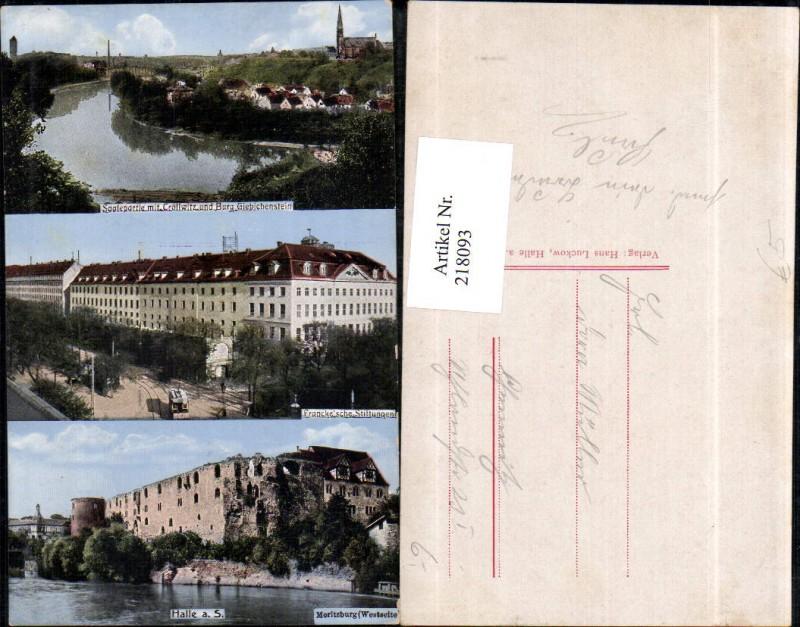 Halle a. d. Saale Moritzburg Frankesche Stiftung Saalepartie m. Cröllwitz